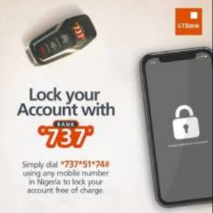 Lock gtbank account with 737